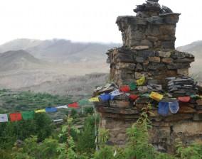 Hillside stupa
