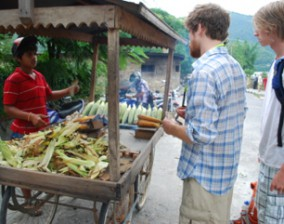 Spicy grilled corn in Pokhara, Nepal