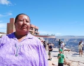 Havasupai woman at the Grand Canyon