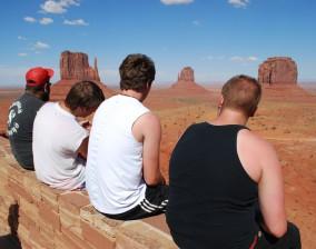 At Monument Valley, AZ