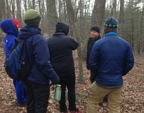 Learning stuff with Jason at the North American Bushcraft School