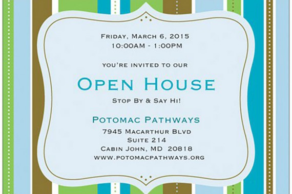 Open House! Friday, March 6!