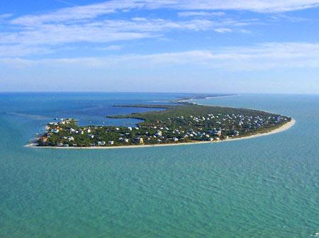 Island arial view